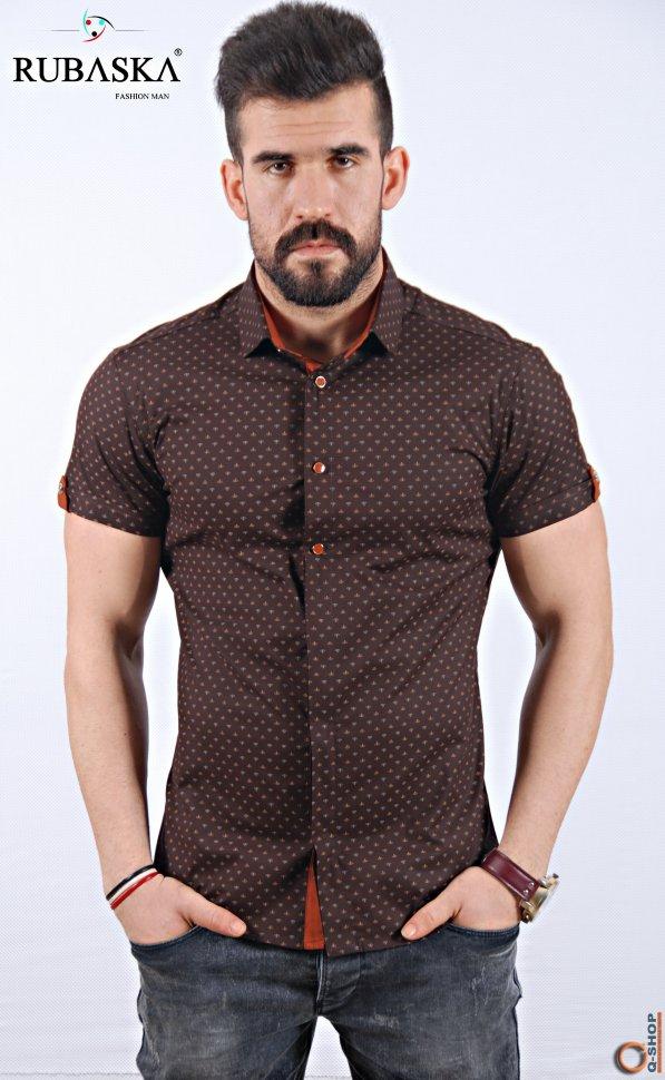 3ac7ad23cac5831 Приталенная мужская рубашка 510. Производство Турция. 639 грн.